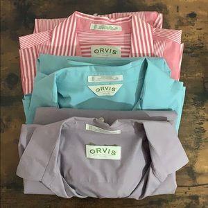 ✨bundle✨ 3 Orvis wrinkle-free button-down shirts